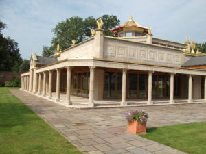 Visit the beautiful Manjushri KMC at Conishead Priory