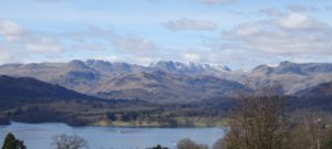 Stunning Windermere and the Langdale Pikes