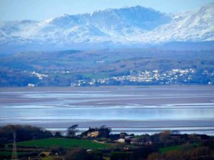 Morecambe Bay and the Lakeland Fells